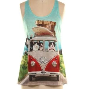 VW Traveling Cats Tank Top by Bear Dance